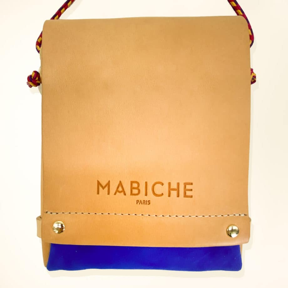 mabiche-paris-pochette-loulou-naturel-bleu-france-face-cuir-tannage-vegetal-fabrication-francaise -1
