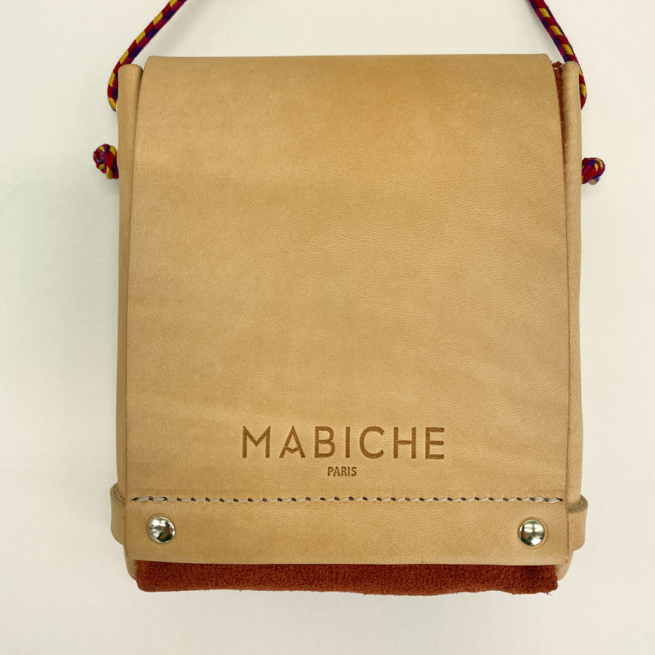 mabiche-paris-pochette-loulou-naturel-terracotta-face-cuir-tannage-vegetal-fabrication-francaise